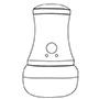 电动全方位爆脂减肥美按摩器,具有不同的按摩接触头作用效果