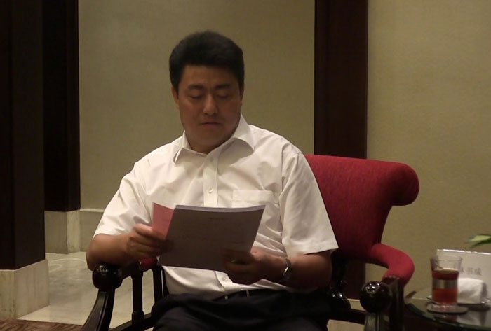 绵阳市市委书记罗强、市长林书成一行会见了卡酷尚集团创始人郭晓林先生