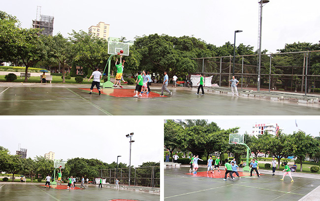 卡酷尚首届篮球赛精彩进行中