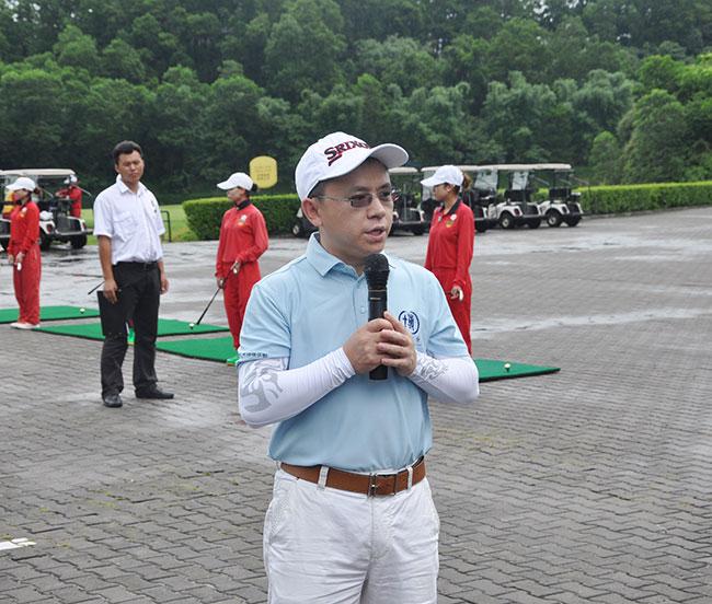 卡酷尚创始人郭晓林先生做为博商同学会兴趣俱乐部的负责人做开赛讲话