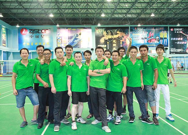 卡酷尚集团2013年第二季度羽毛球比赛兼员工生日晚会