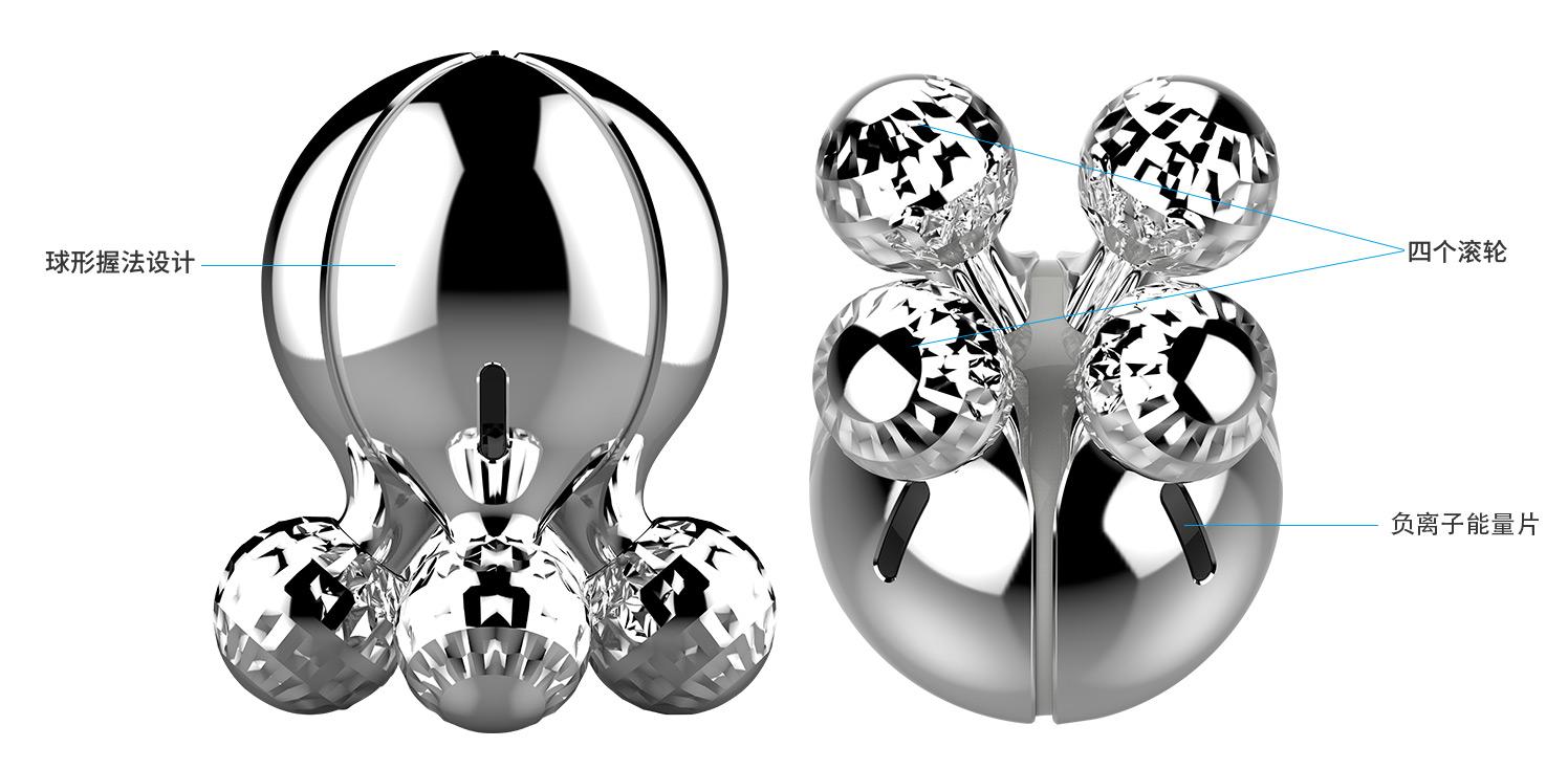 四滚轮负离子3D按摩器参数