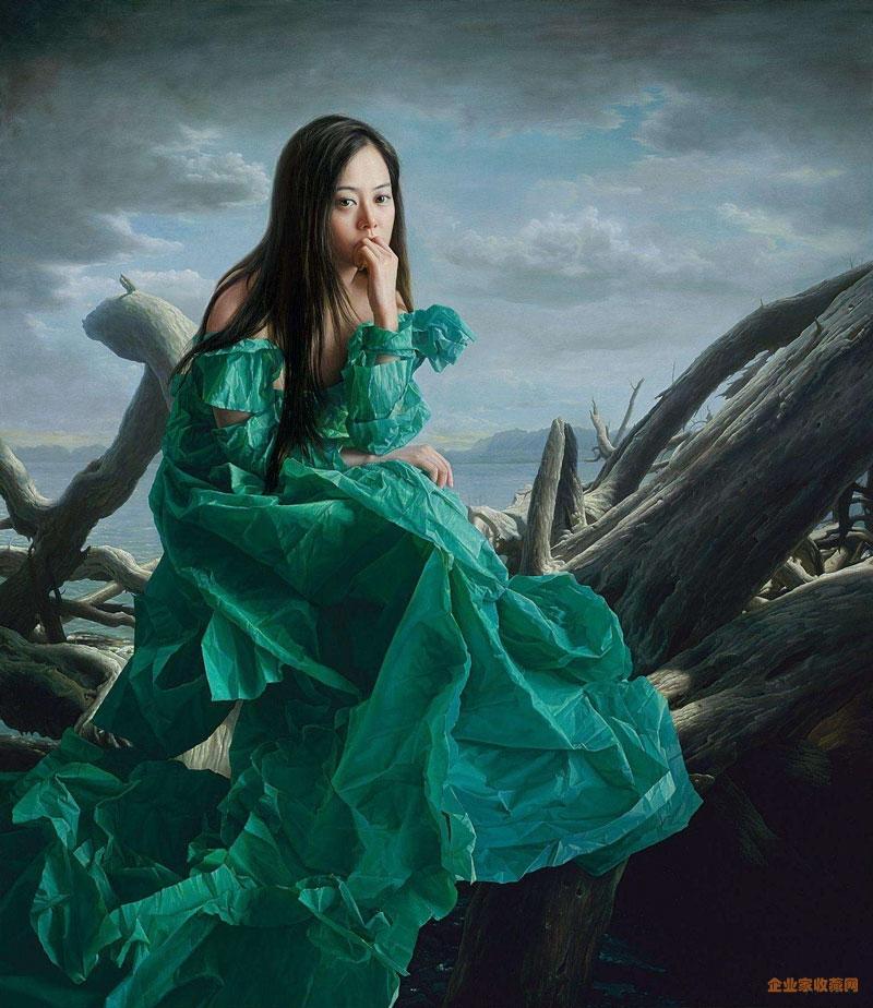 绿衣新娘作品