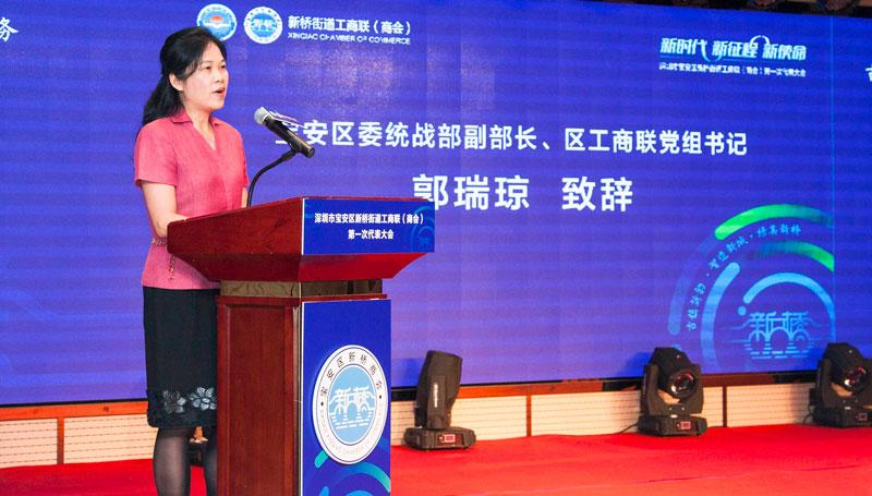 宝安区委统战部副部长、区工商联党组书记郭瑞琼致辞