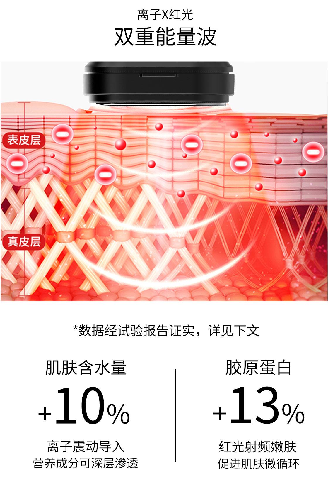 KAKUSAN多功能RF射频仪 网红款童颜射频美容仪什么效果?红光冷热敷